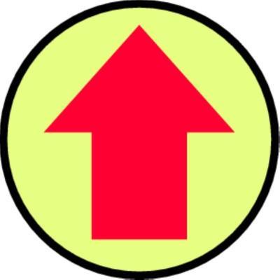 Arrow -  Glow Adhesive Floor Sign