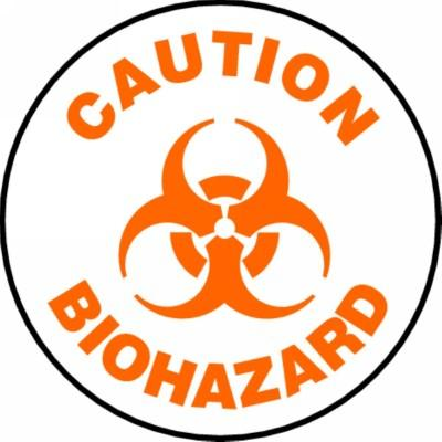 Caution - Biohazard - Adhesive Floor Sign