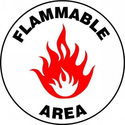 Flammable Area - Adhesive Floor Sign