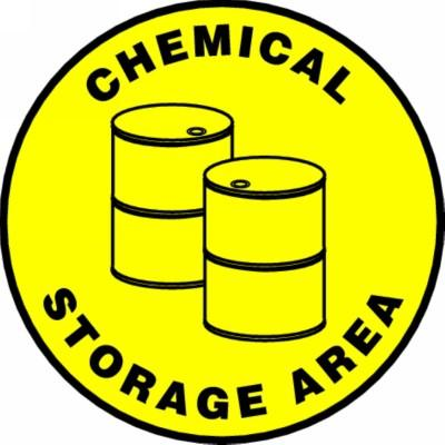 Chemical Storage Area - Adhesive Floor Sign