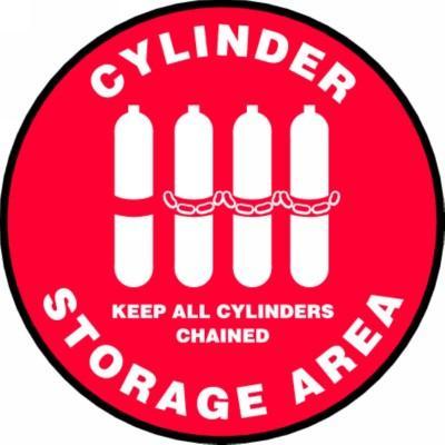 Cylinder Storage Area - Adhesive Floor Sign