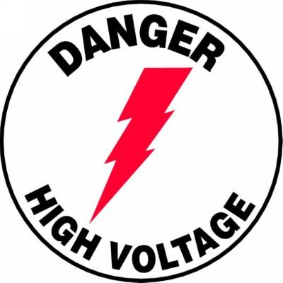 Danger - High Voltage - Adhesive Floor Sign