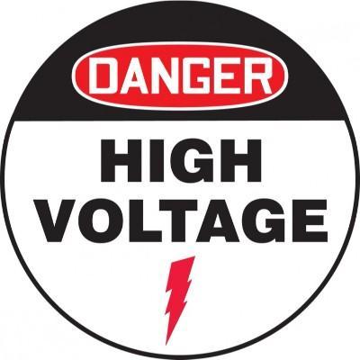 Danger - High Voltage OSHA Adhesive Floor Sign
