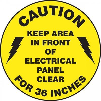 Caution - Keep Area Clear - Adhesive Floor Sign