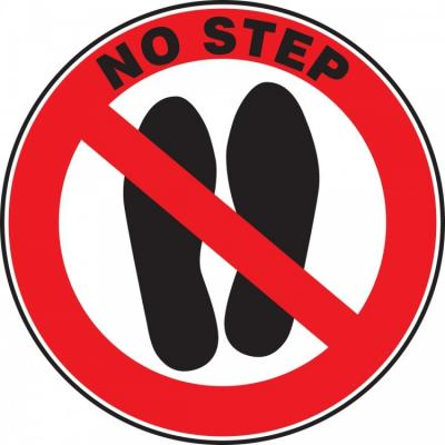No Step - Adhesive Floor Sign