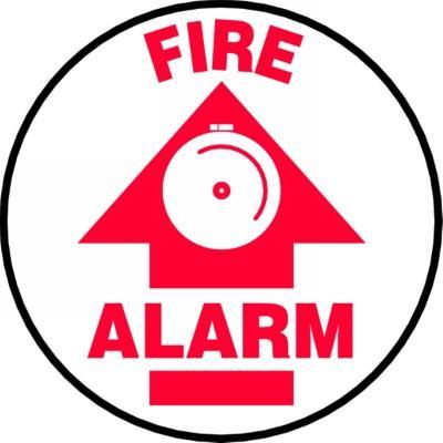 Fire Alarm - Adhesive Floor Sign