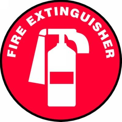 Fire Extinguisher (Red) - Adhesive Floor Sign