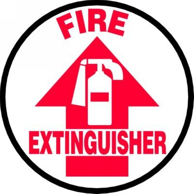 Fire Extinguisher (Arrow) - Adhesive Floor Sign