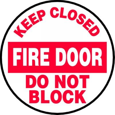 Keep Closed Fire Door - Adhesive Floor Sign