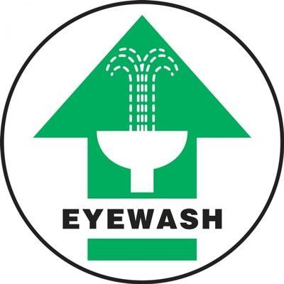 Eyewash Station - Adhesive Floor Sign