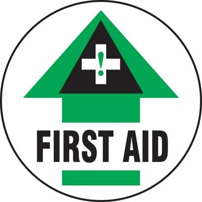 First Aid - Adhesive Floor Sign