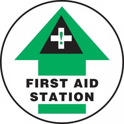 First Aid Station - Adhesive Floor Sign