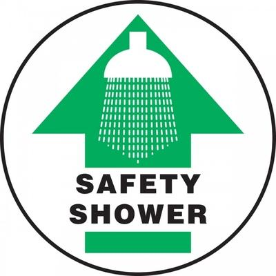 Safety Shower - Adhesive Floor Sign