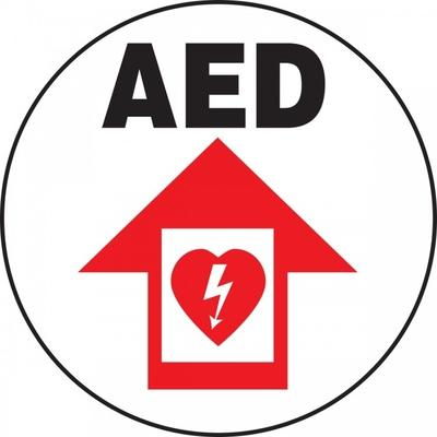 AED - Adhesive Floor Sign