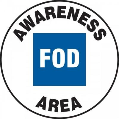 Awareness FOD Area - Adhesive Floor Sign