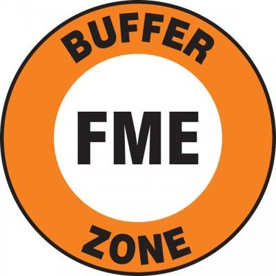 Buffer FME Zone - Adhesive Floor Sign