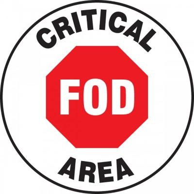 Critical FOD Area - Adhesive Floor Sign