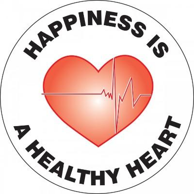 Happiness is a Healthy Heart - Adhesive Floor Sign