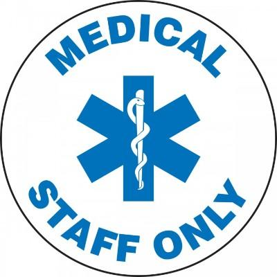 Medical Staff Only - Adhesive Floor Sign