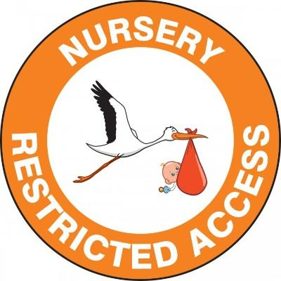 Nursery Restricted Access - Adhesive Floor Sign