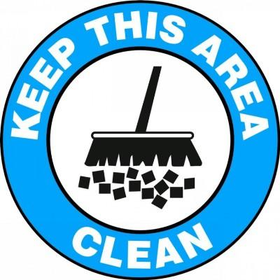 Keep This Area Clean - Adhesive Floor Sign