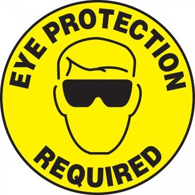 Eye Protection Required - Adhesive Floor Sign