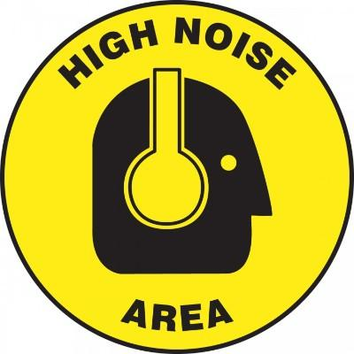 High Noise Area - Adhesive Floor Sign