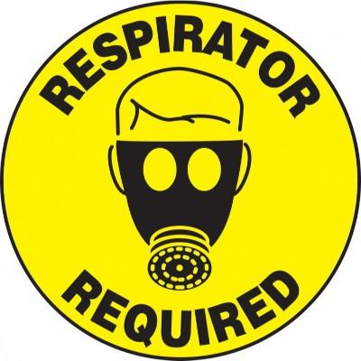 Respirator Required - Adhesive Floor Sign