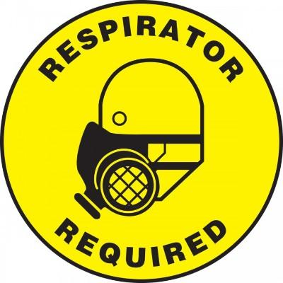 Respirator Required (Side Image) - Adhesive Floor Sign