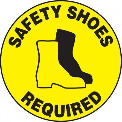 Safety Shoes Required - Adhesive Floor Sign