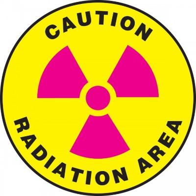 Caution - Radiation Area - Adhesive Floor Sign