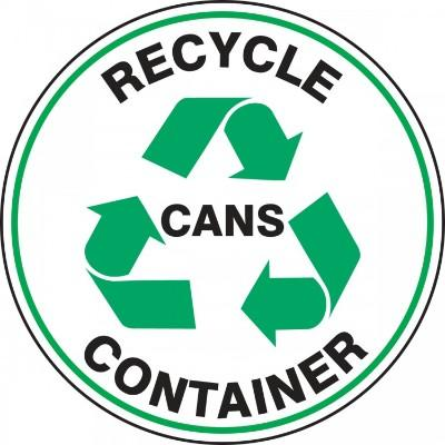 Recycle Container Cans - Adhesive Floor Sign