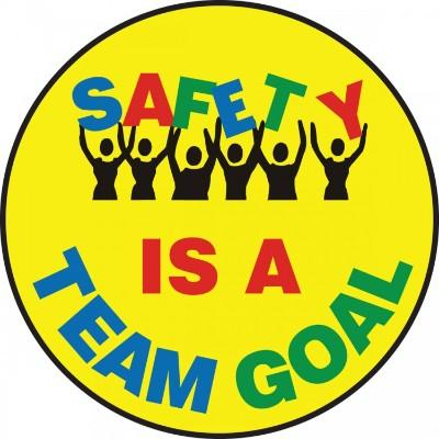 Safety is a Team Goal - Adhesive Floor Sign