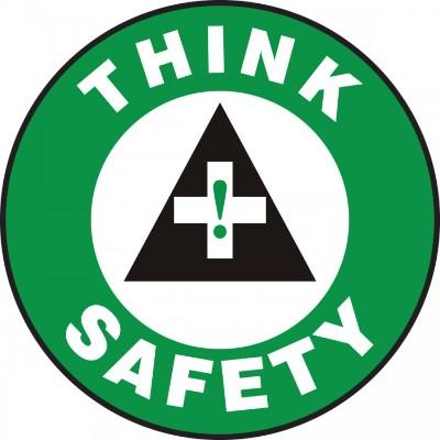 Think Safety - Adhesive Floor Sign
