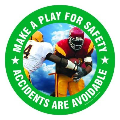 Make a Play for Safety - Adhesive Floor Sign