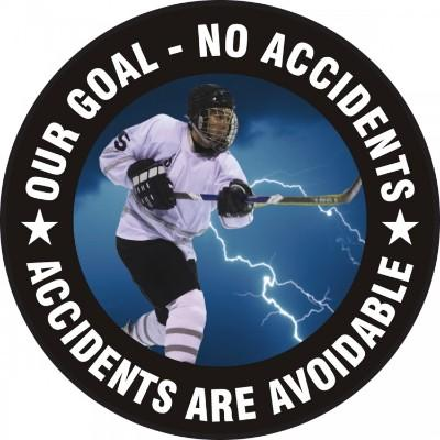 Our Goal, No Accidents - Adhesive Floor Sign