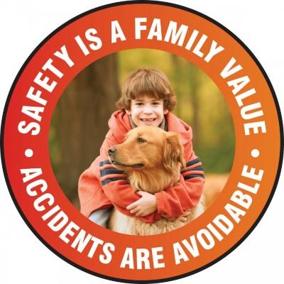 Safety is a Family Value - Adhesive Floor Sign