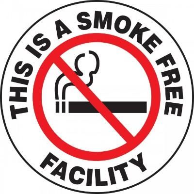 This is a Smoke Free Facility - Adhesive Floor Sign