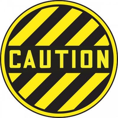 Caution (Stripes) - Adhesive Floor Sign