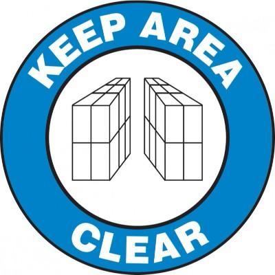 Keep Area Clear - Adhesive Floor Sign