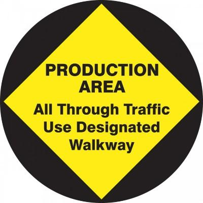Production Area - Adhesive Floor Sign