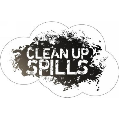 Clean Up Spills - Floor Graphic