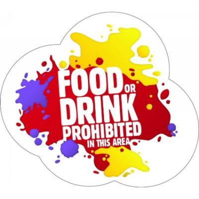 Food or Drink Prohibited in This Area - Floor Graphic