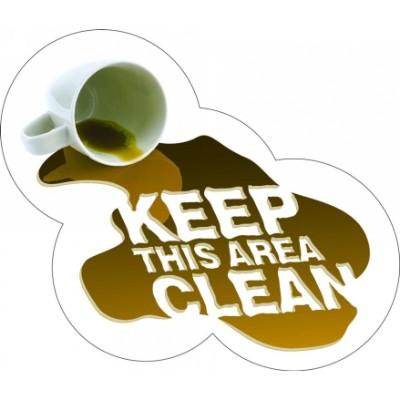 Keep This Area Clean - Floor Graphic
