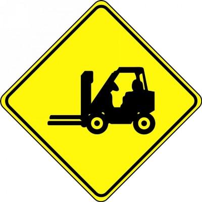 Forklift Symbol - Diamond Floor Sign