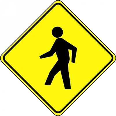 Pedestrian Symbol - Diamond Floor Sign