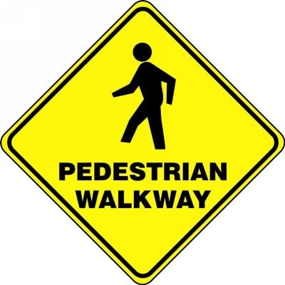 Pedestrian Walkway - Diamond Floor Sign