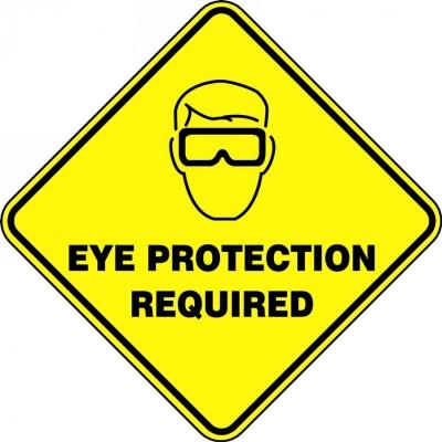 Eye Protection Required - Diamond Floor Sign