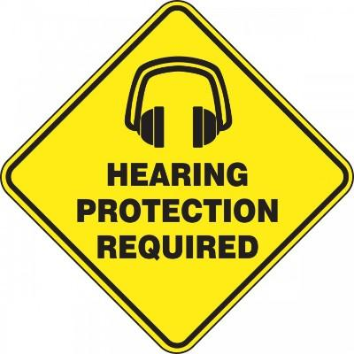 Hearing Protection Required - Diamond Floor Sign