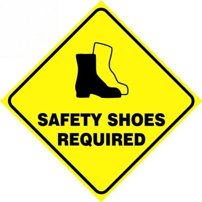 Safety Shoes Required - Diamond Floor Sign